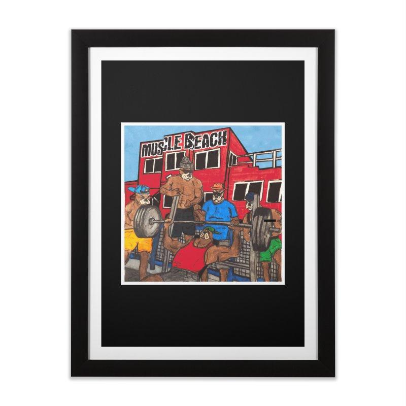 Muscle Beach Home Framed Fine Art Print by Break The Bar