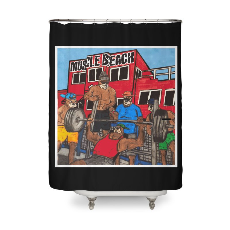Muscle Beach Home Shower Curtain by Break The Bar