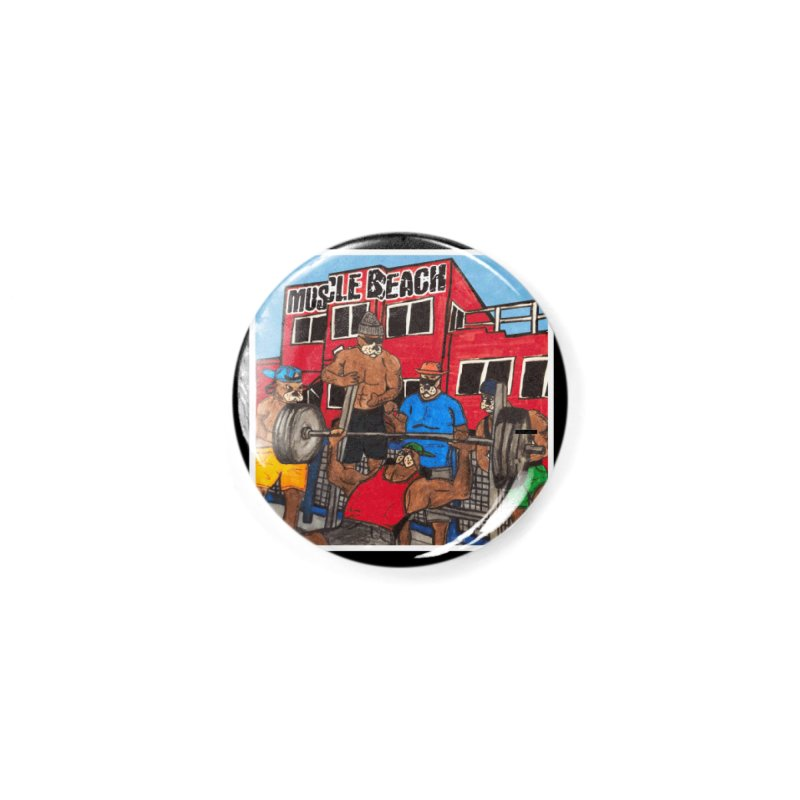 Muscle Beach Accessories Button by Break The Bar