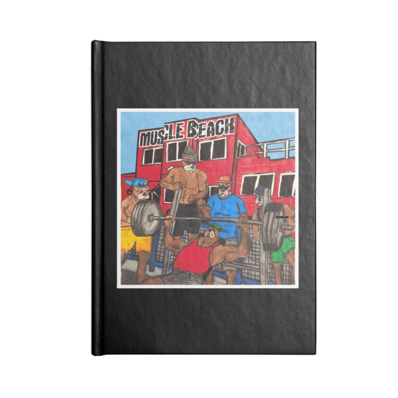 Muscle Beach Accessories Lined Journal Notebook by Break The Bar