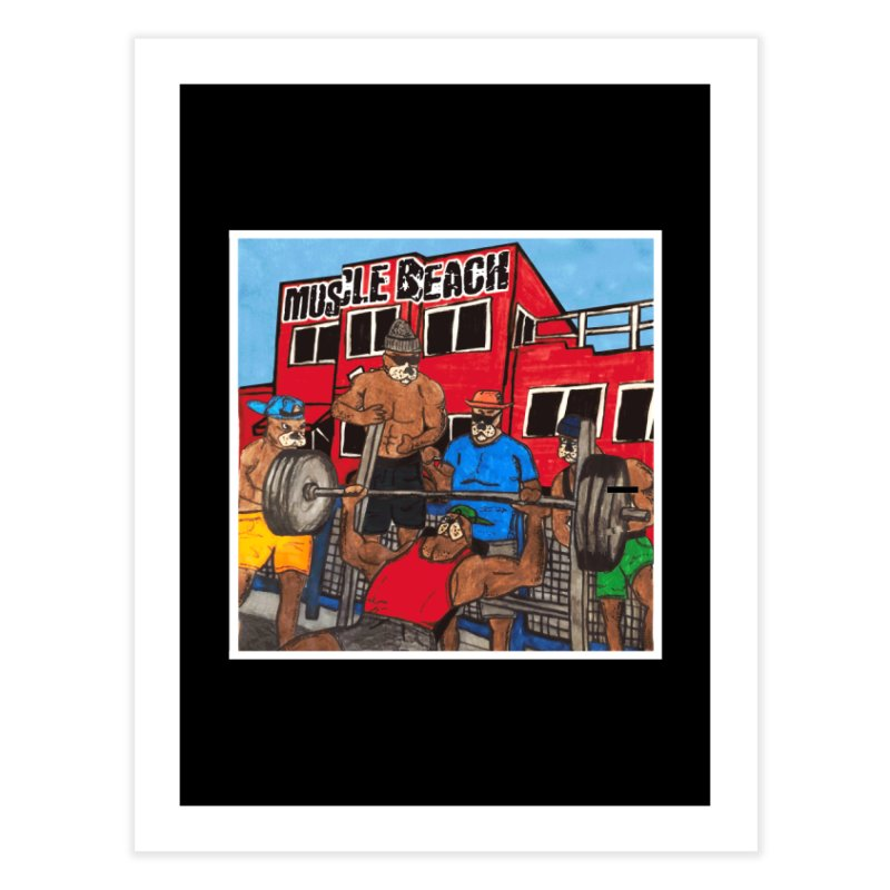 Muscle Beach Home Fine Art Print by Break The Bar