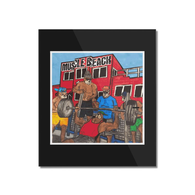 Muscle Beach Home Mounted Acrylic Print by Break The Bar