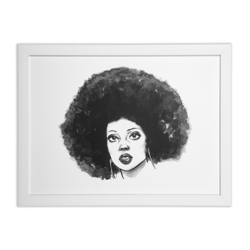 Diana Ross (70s) Home Framed Fine Art Print by BCHI LA