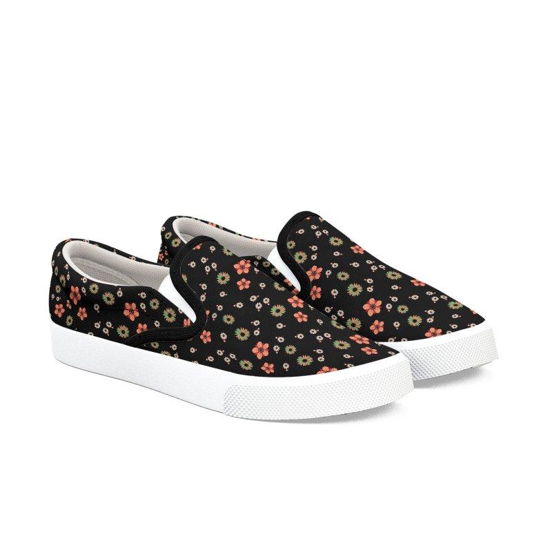 black flowers Men's Shoes by brendanovas's Artist Shop