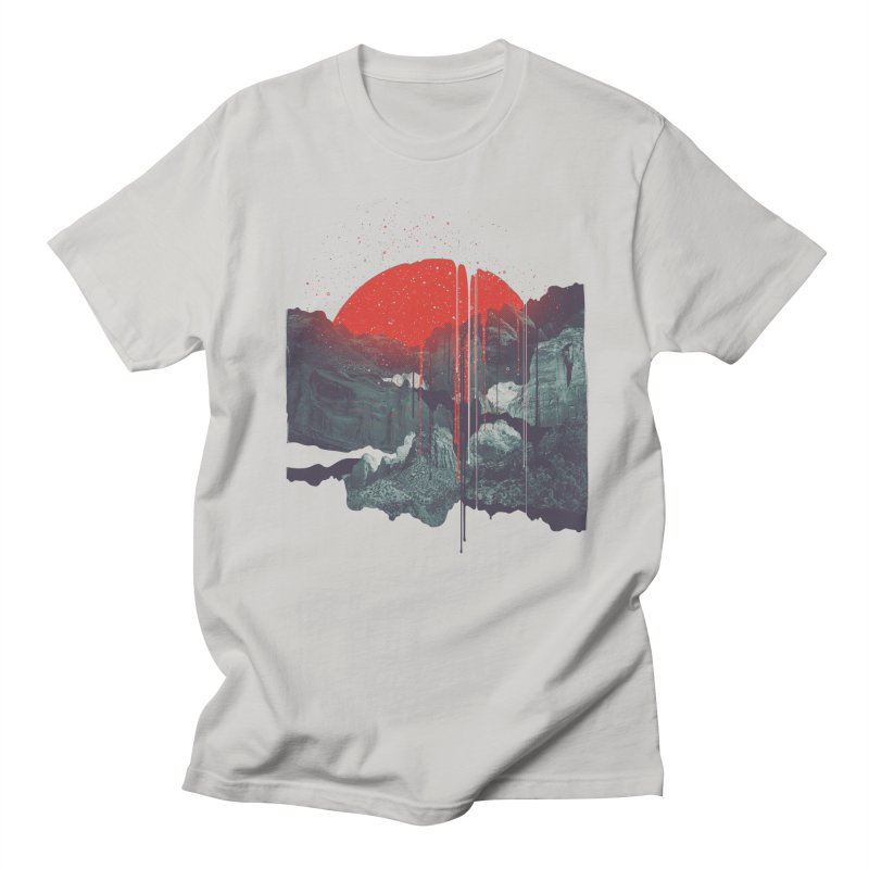 Sun Spills; Night Falls Men's T-shirt by Brent Schoepf Makes Shirts