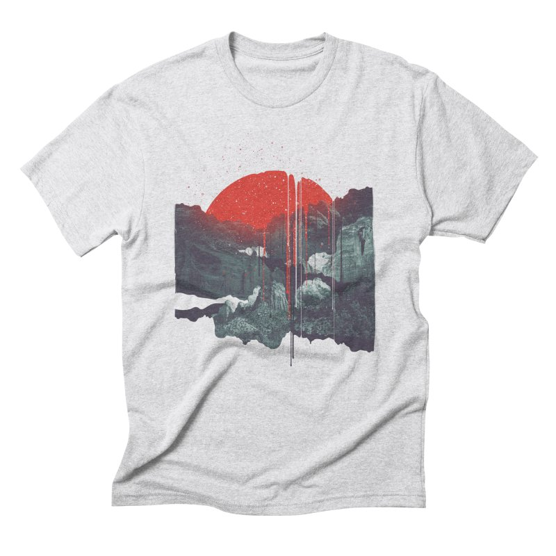 Sun Spills; Night Falls Men's Triblend T-shirt by Brent Schoepf Makes Shirts