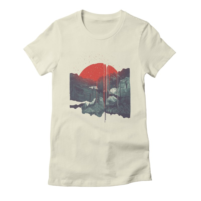 Sun Spills; Night Falls Women's Fitted T-Shirt by Brent Schoepf Makes Shirts