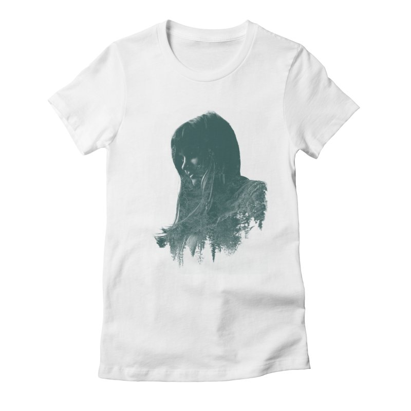 Fauna Women's Fitted T-Shirt by Brent Schoepf Makes Shirts