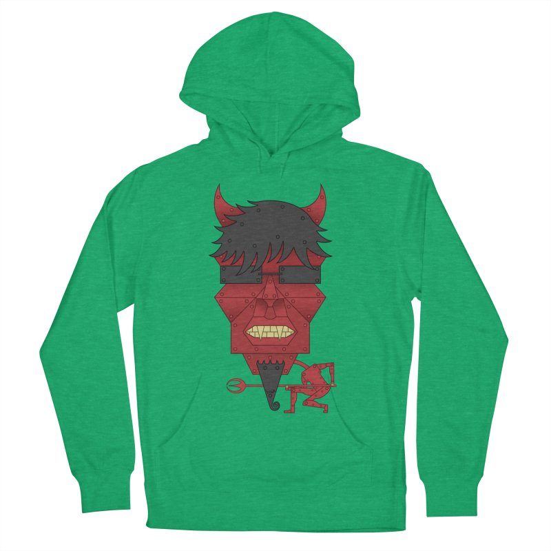 The Devil Men's French Terry Pullover Hoody by brettgilbert's Artist Shop