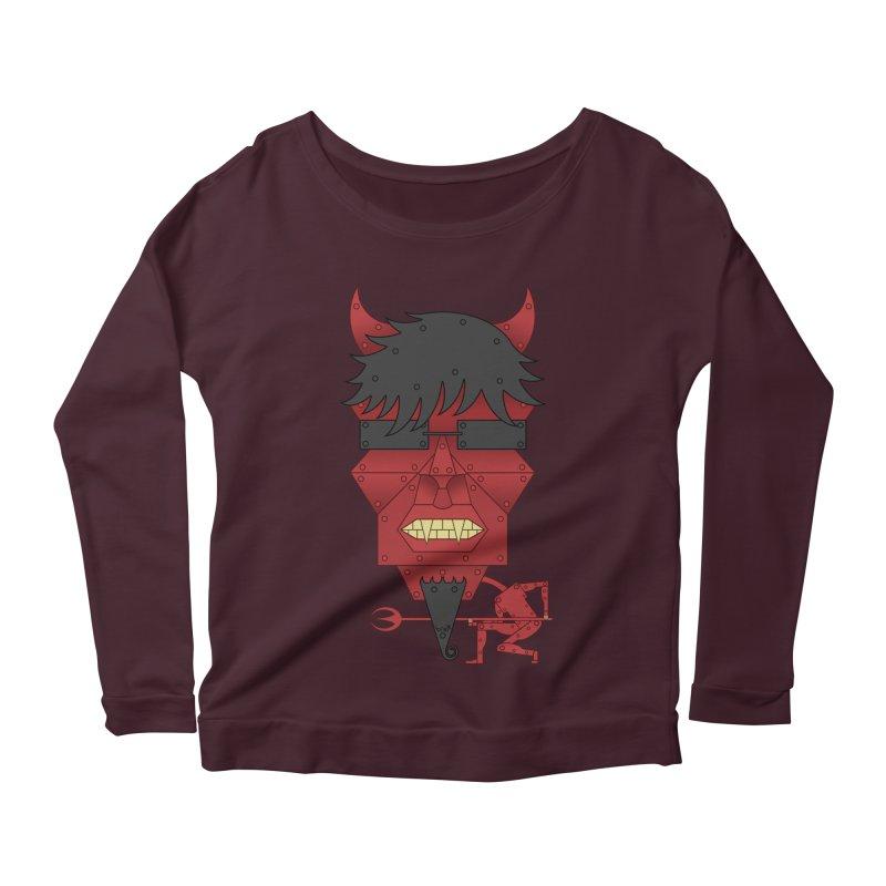 The Devil Women's Scoop Neck Longsleeve T-Shirt by brettgilbert's Artist Shop