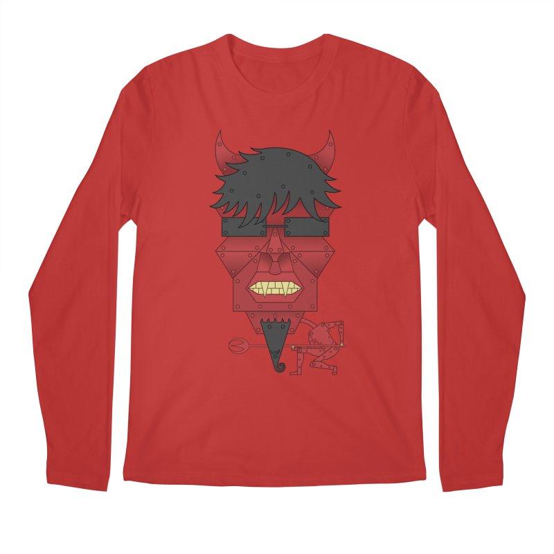 The Devil Men's Regular Longsleeve T-Shirt by brettgilbert's Artist Shop