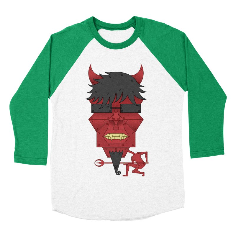 The Devil Women's Baseball Triblend T-Shirt by brettgilbert's Artist Shop