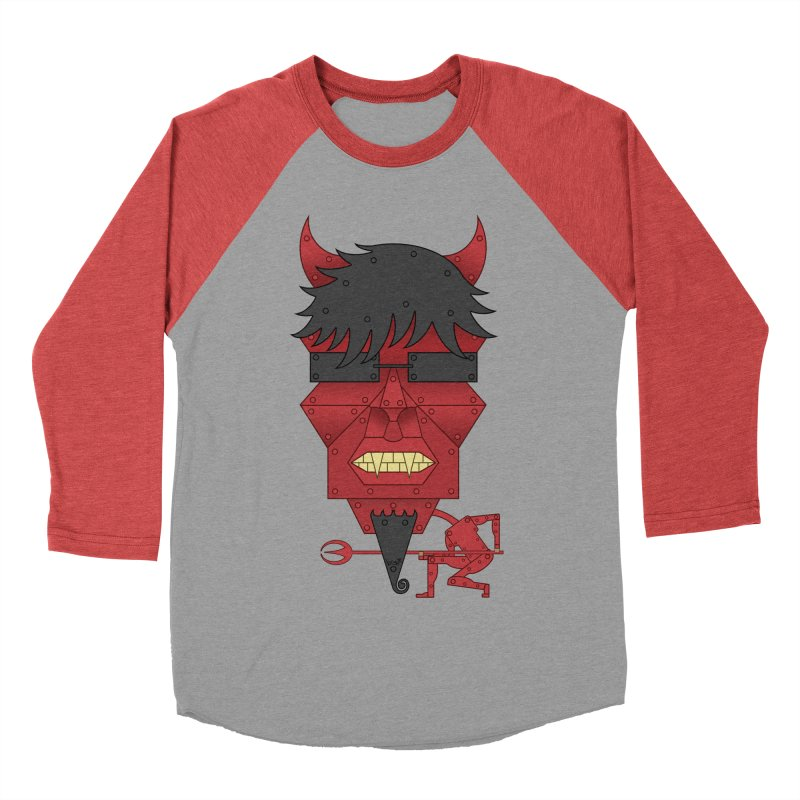 The Devil Men's Baseball Triblend T-Shirt by brettgilbert's Artist Shop