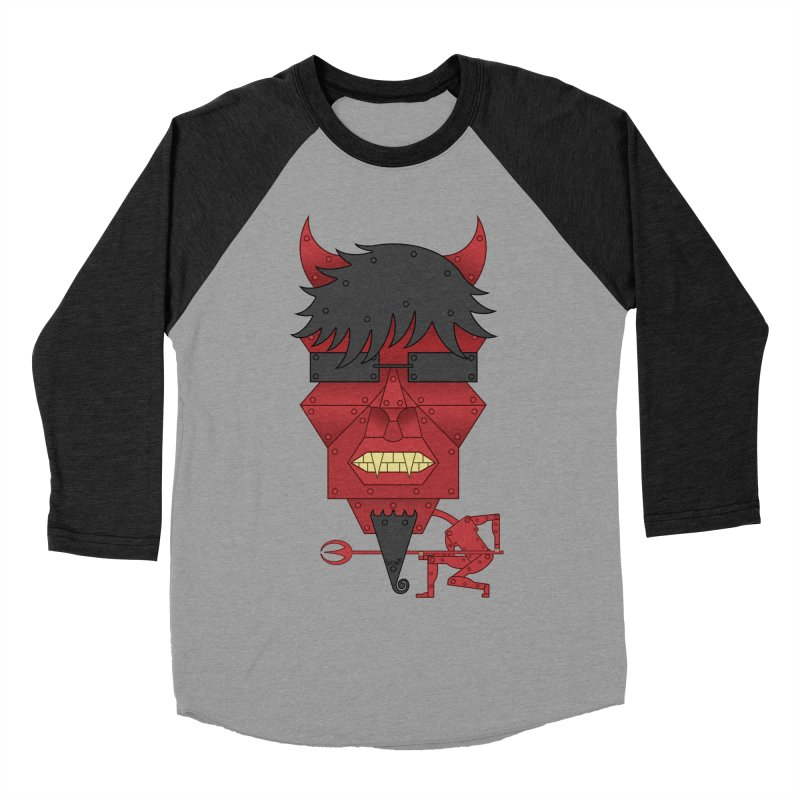 The Devil Men's Baseball Triblend T-Shirt by brettgilbert's Artist Shop
