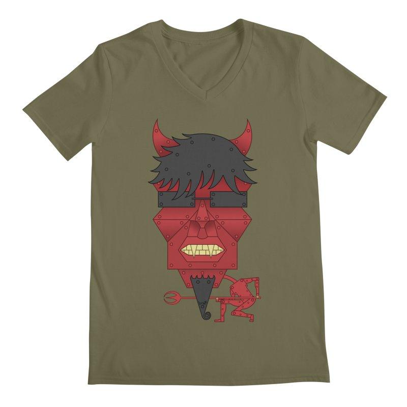 The Devil Men's V-Neck by brettgilbert's Artist Shop