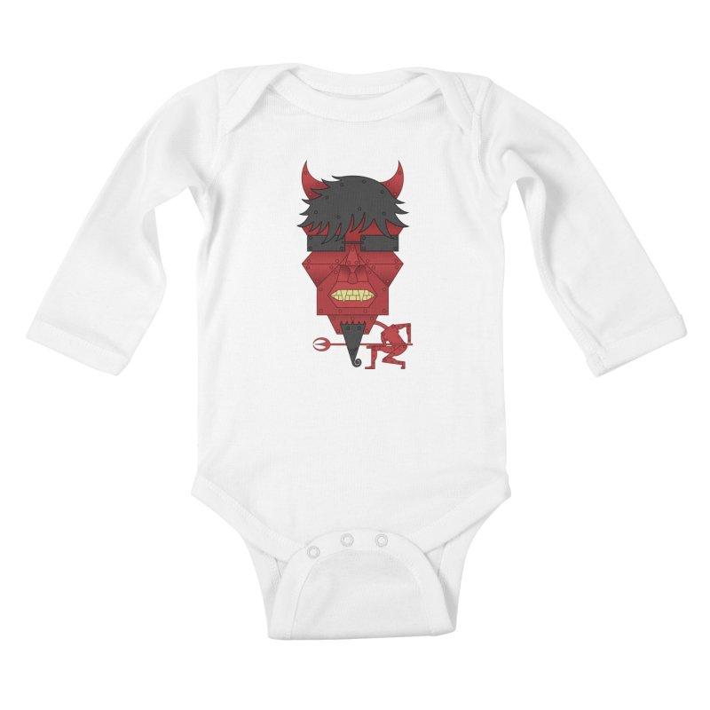 The Devil Kids Baby Longsleeve Bodysuit by brettgilbert's Artist Shop