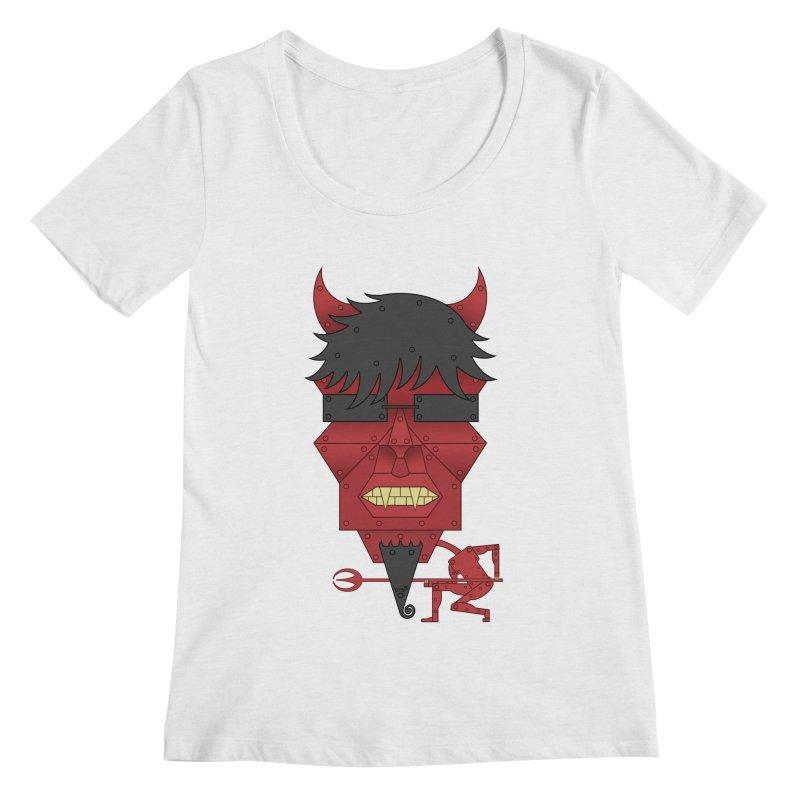 The Devil Women's Scoopneck by brettgilbert's Artist Shop