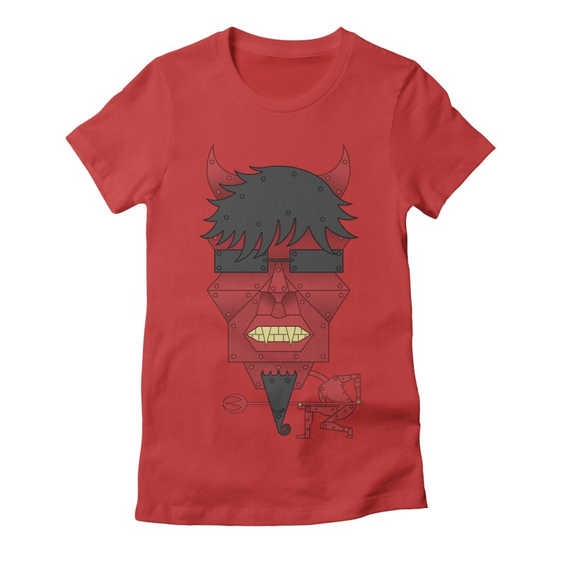 The Devil Women's Fitted T-Shirt by brettgilbert's Artist Shop
