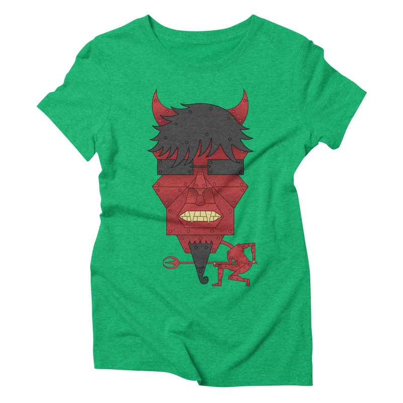 The Devil Women's Triblend T-Shirt by brettgilbert's Artist Shop