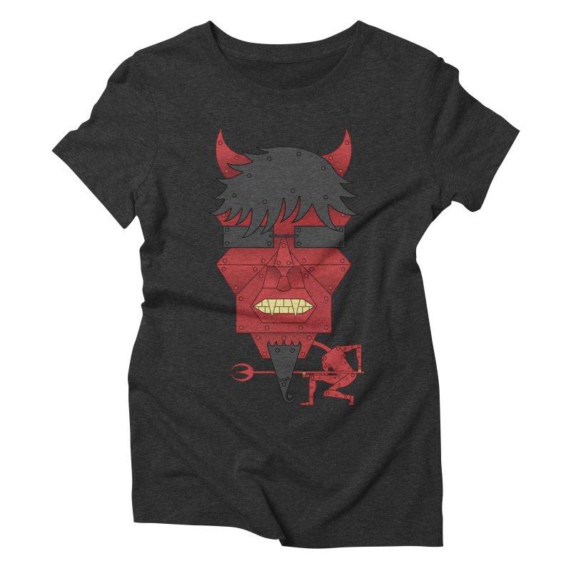 The Devil Women's Triblend T-Shirt by brettgilbert's Artist Shop