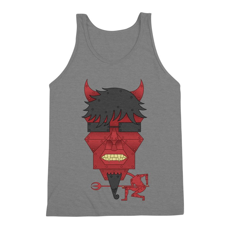The Devil Men's Triblend Tank by brettgilbert's Artist Shop