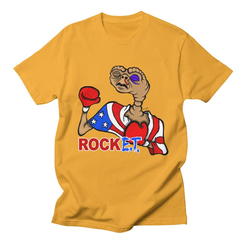 Rock E.T. Men's T-Shirt by brettgilbert's Artist Shop