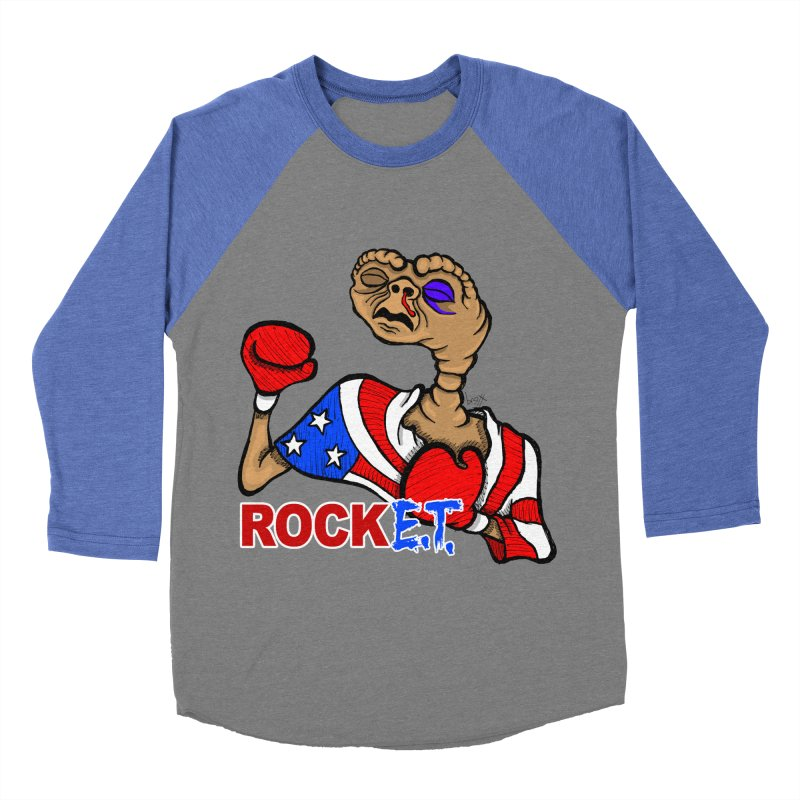 Rock E.T. Men's Baseball Triblend T-Shirt by brettgilbert's Artist Shop