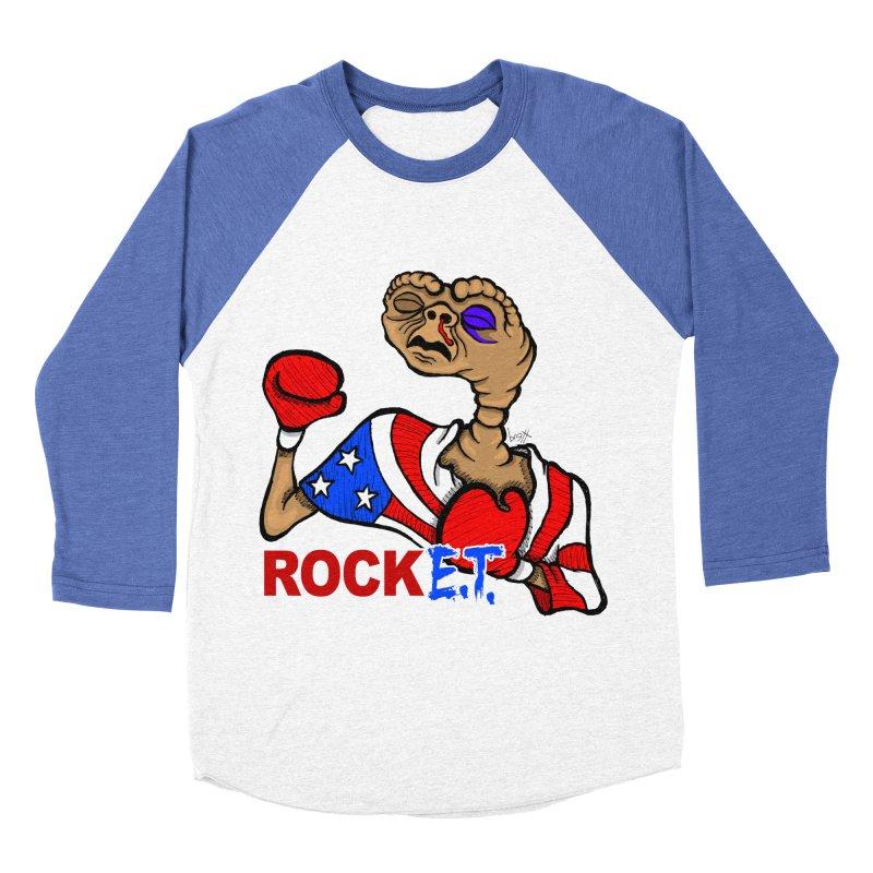 Rock E.T. Men's Baseball Triblend T-Shirt by brettgilbert's Artist Shop