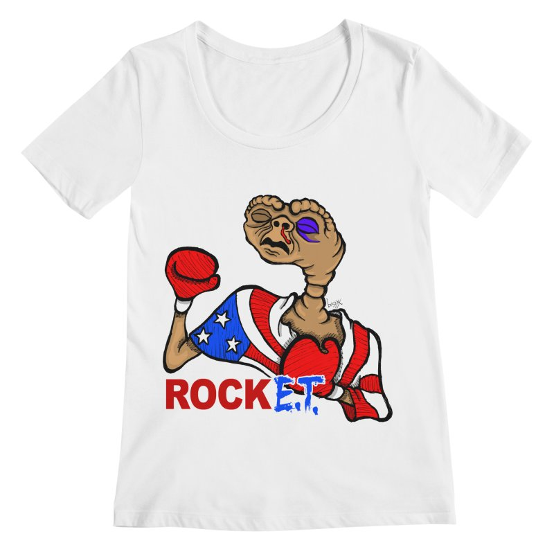 Rock E.T. Women's Regular Scoop Neck by brettgilbert's Artist Shop