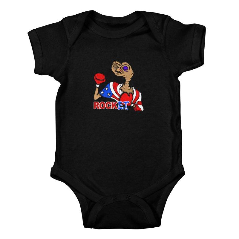 Rock E.T. Kids Baby Bodysuit by brettgilbert's Artist Shop