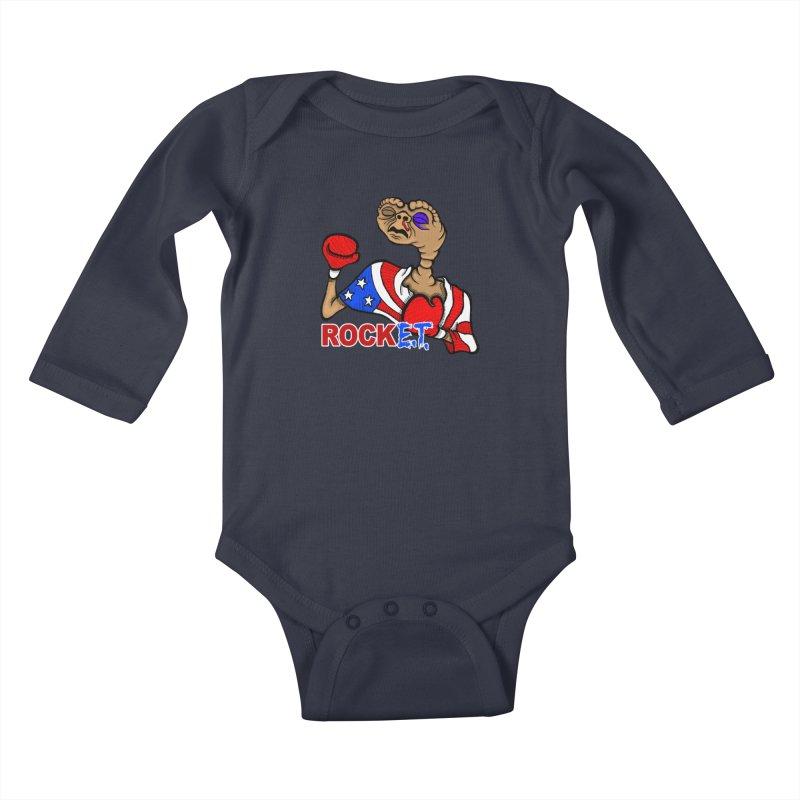 Rock E.T. Kids Baby Longsleeve Bodysuit by brettgilbert's Artist Shop