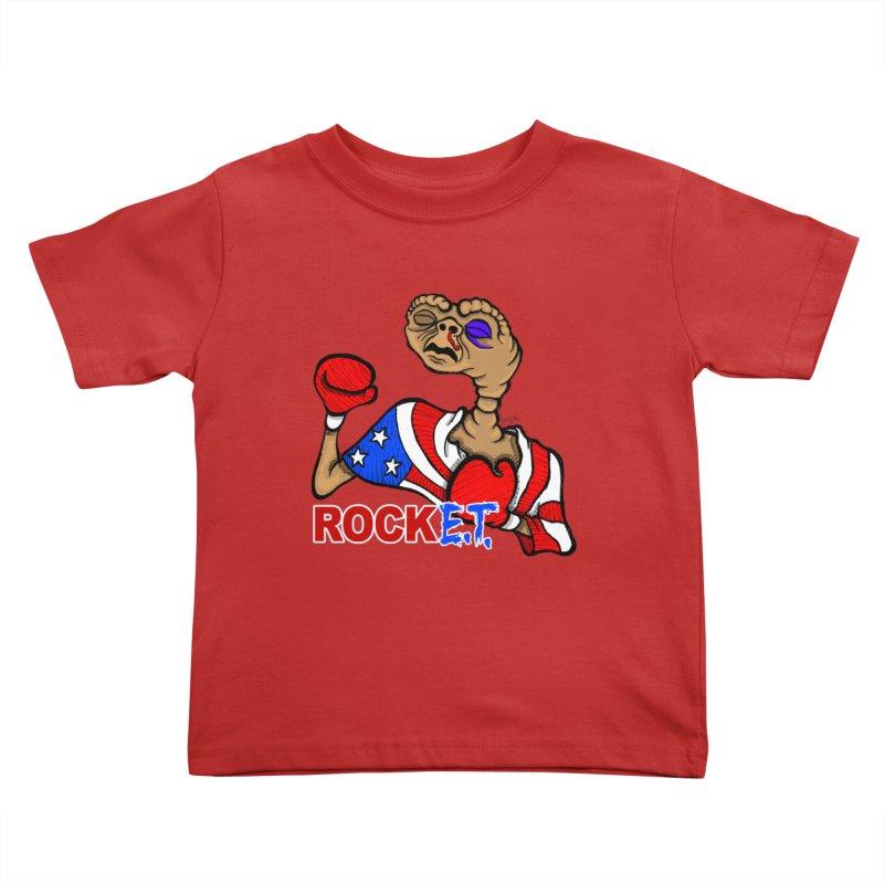 Rock E.T. Kids Toddler T-Shirt by brettgilbert's Artist Shop