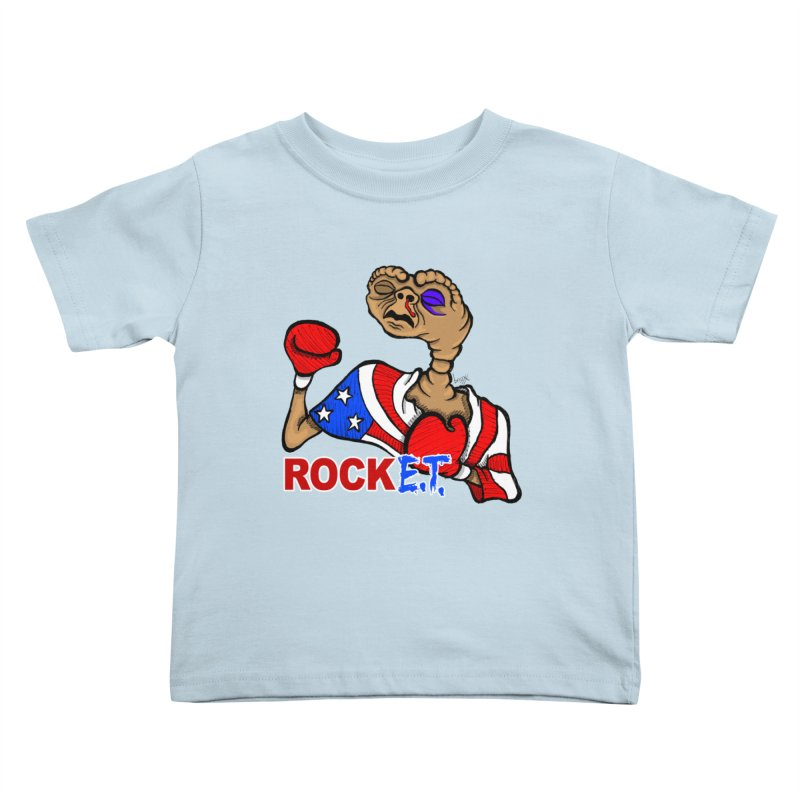 Rock E.T. Kids Toddler T-Shirt by brettgilbert's Artist Shop