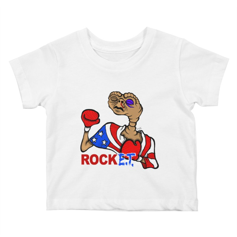 Rock E.T. Kids Baby T-Shirt by brettgilbert's Artist Shop