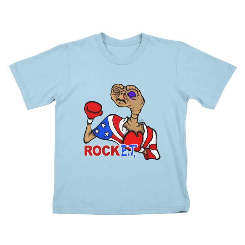 Rock E.T. Kids T-Shirt by brettgilbert's Artist Shop
