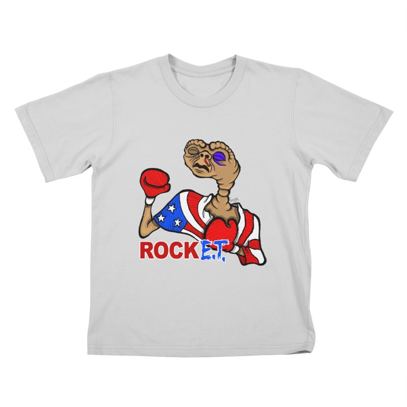 Rock E.T. Kids T-Shirt by brettgilbert's Artist Shop