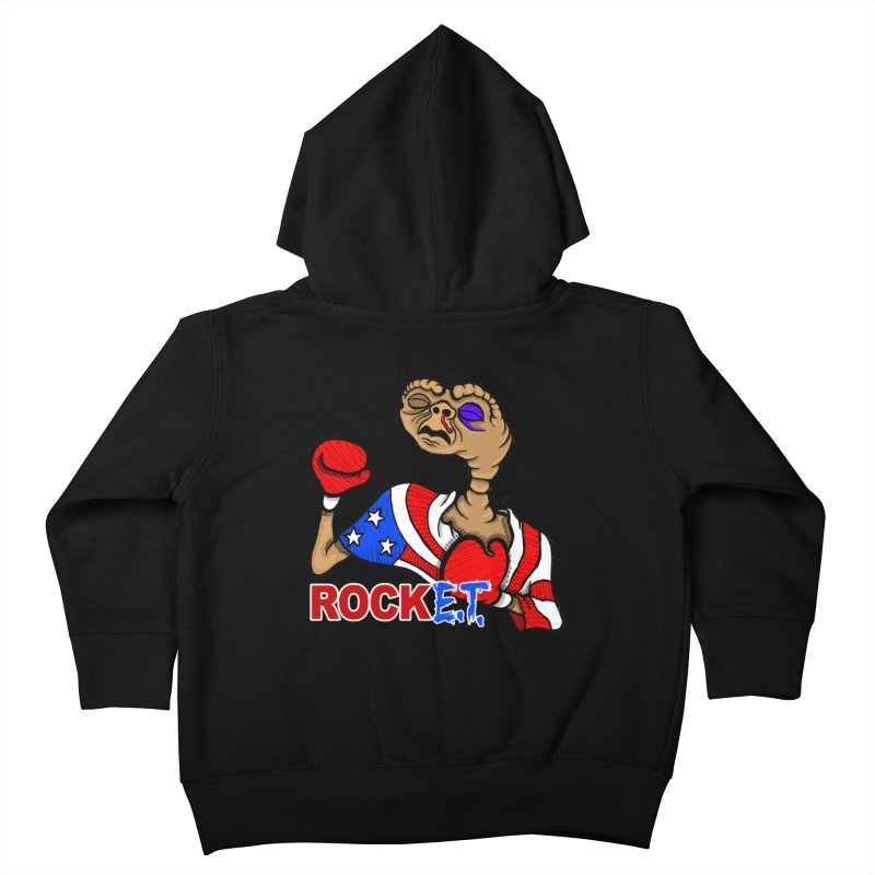 Rock E.T. Kids Toddler Zip-Up Hoody by brettgilbert's Artist Shop