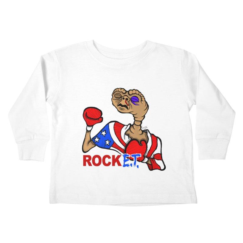 Rock E.T. Kids Toddler Longsleeve T-Shirt by brettgilbert's Artist Shop