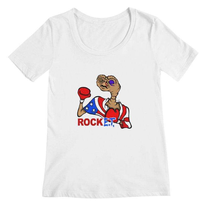 Rock E.T. Women's Scoopneck by brettgilbert's Artist Shop