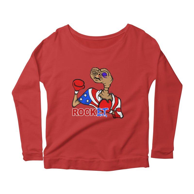 Rock E.T. Women's Scoop Neck Longsleeve T-Shirt by brettgilbert's Artist Shop