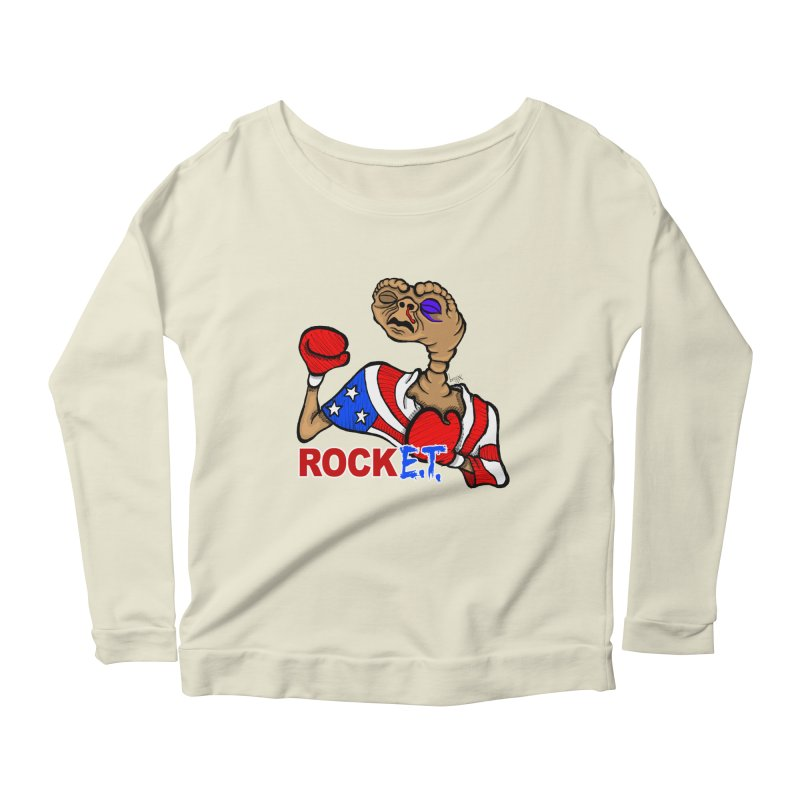 Rock E.T. Women's Longsleeve Scoopneck  by brettgilbert's Artist Shop