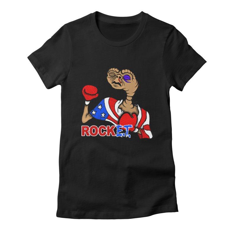 Rock E.T. Women's Fitted T-Shirt by brettgilbert's Artist Shop