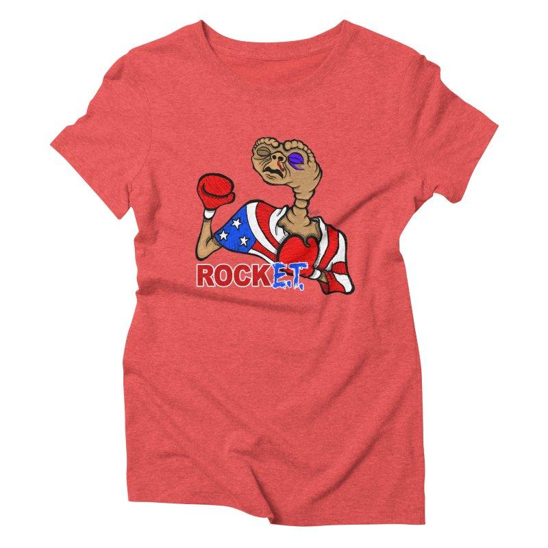 Rock E.T. Women's Triblend T-shirt by brettgilbert's Artist Shop