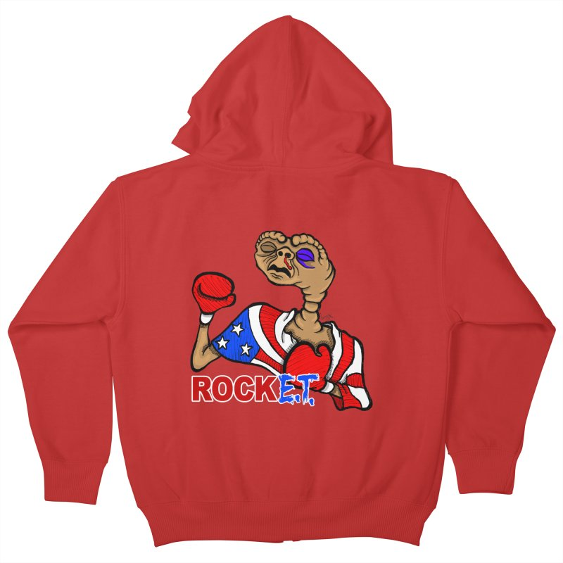Rock E.T. Kids Zip-Up Hoody by brettgilbert's Artist Shop
