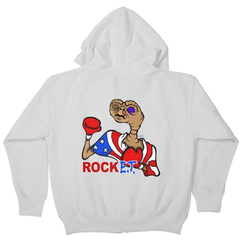 Rock E.T. Kids Zip-Up Hoody by brettgilbert's Artist Shop