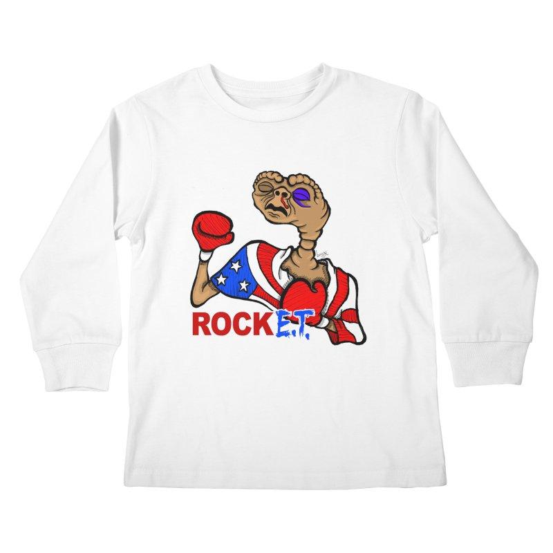 Rock E.T. Kids Longsleeve T-Shirt by brettgilbert's Artist Shop