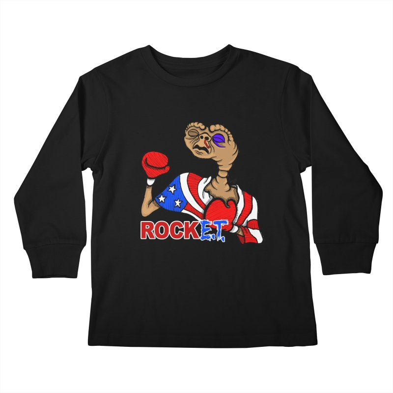 Rock E.T. Kids Longsleeve T-Shirt by brettgilbert's Artist Shop