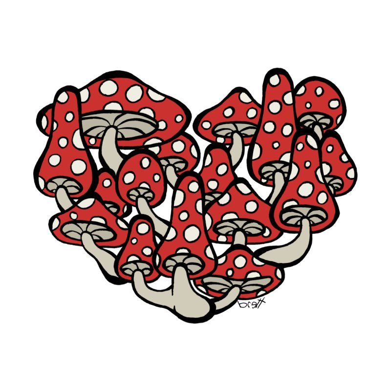 Heart Made of Mushrooms by brettgilbert's Artist Shop