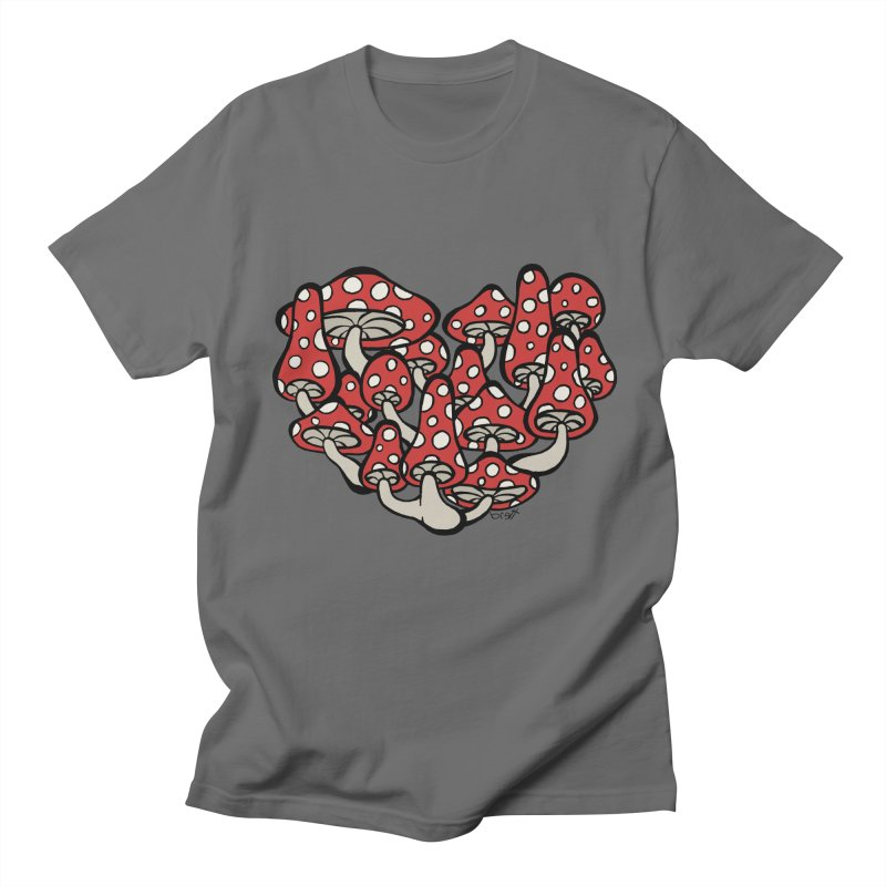 Heart Made of Mushrooms Men's Lounge Pants by brettgilbert's Artist Shop