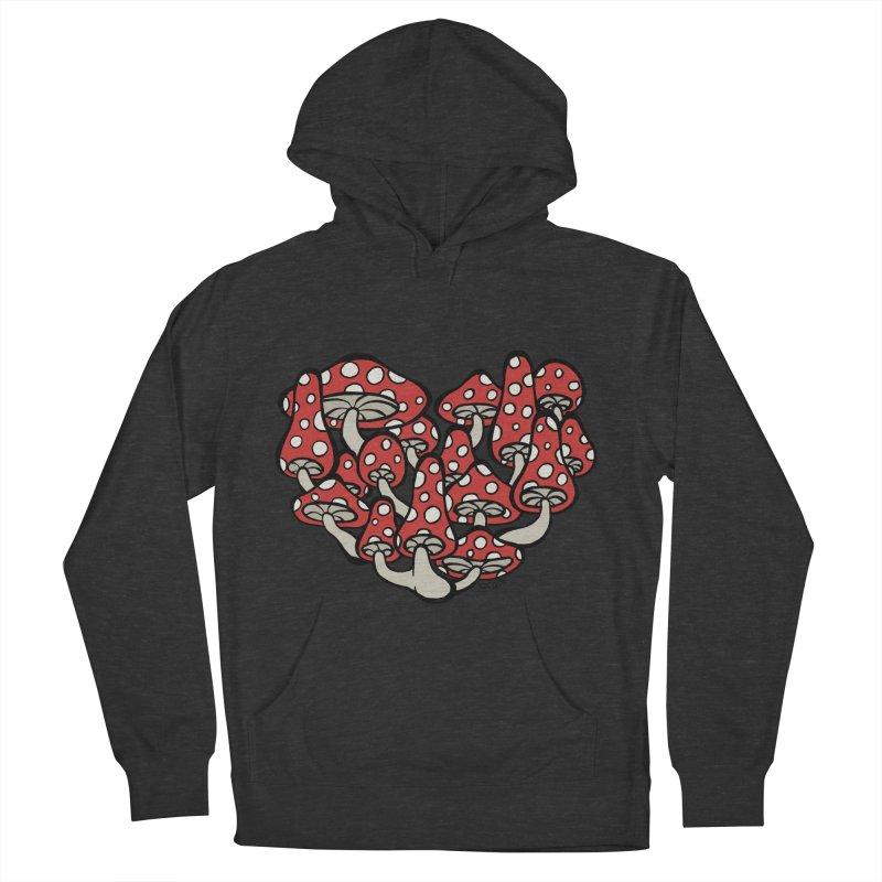 Heart Made of Mushrooms Women's Pullover Hoody by brettgilbert's Artist Shop